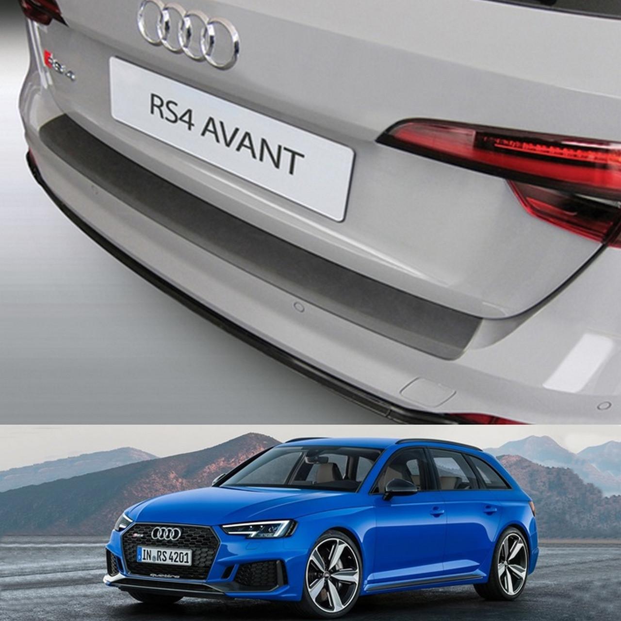 Пластикова захисна накладка на задній бампер для  Audi RS4 Avant 2018-2020