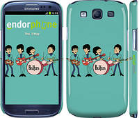 """Чохол на Samsung Galaxy S3 i9300 Бітлз на бірюзовому тлі """"179c-11"""""""
