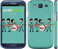 """Чехол на Samsung Galaxy S3 Duos I9300i Битлз на бирюзовом фоне """"179c-50"""""""