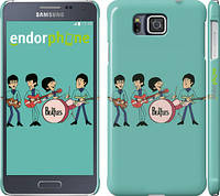"Чехол на Samsung Galaxy Alpha G850F Битлз на бирюзовом фоне ""179c-65"""