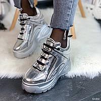 Модные женские кроссовки на платформе