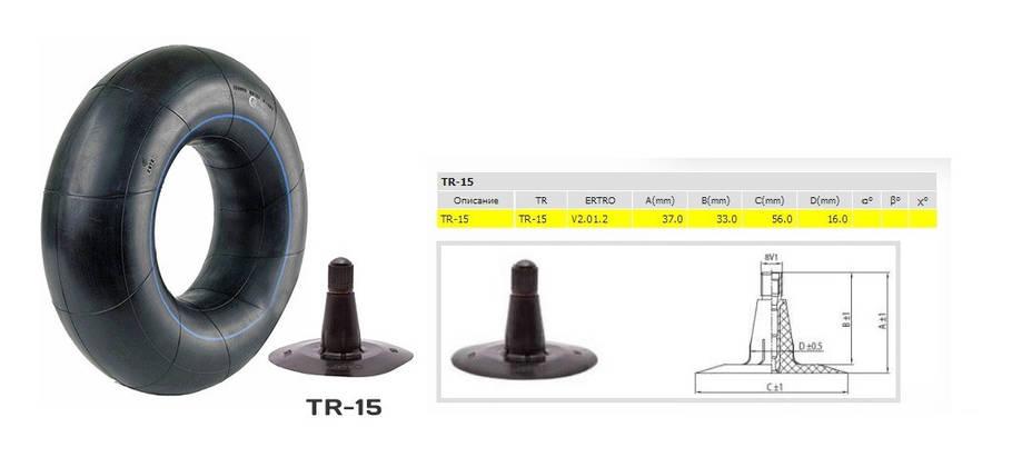 Автокамера 200/60-14.5 ( 24x8.00-14.5)  TR - 15 Kabat, фото 2