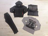 Трикотажный утеленный костюм 3 в 1 для мальчика, Seagull, 4,6,8 лет,  № CSQ-67083