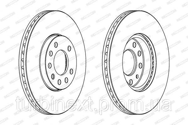 Тормозной диск передний OPEL CALIBRA A, VECTRA B, SAAB 900 II, CHEVROLET ASTRA FERODO DDF810