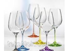 Бокалы для вина  Rainbow 550 мл 6 шт