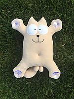 Мягкая игрушка на присосках  в машину кот Саймон ручная работа
