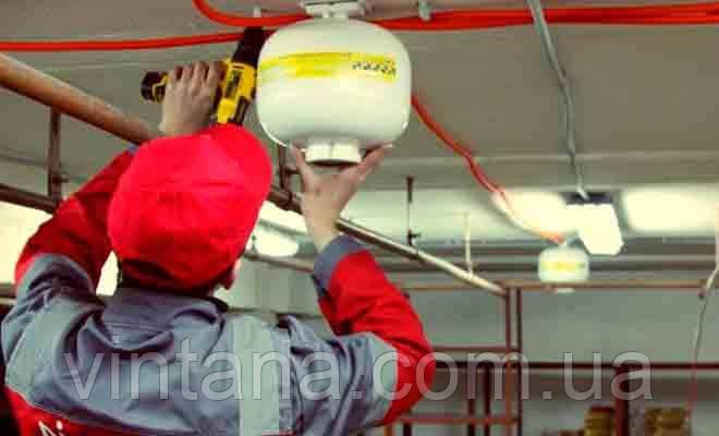 Монтаж систем порошкового пожаротушения