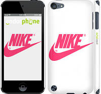 "Чехол на iPod Touch 5 Nike с розовым логотипом ""2736c-35"""