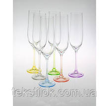 Бокалы для шампанского  Rainbow 190 мл 6 шт