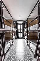 Кровать 2х ярусная металлическая для хостела и гостиниц. Мебель для хостела под заказ.