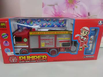 Пожарная машинка музыкальная с мыльными пузырями