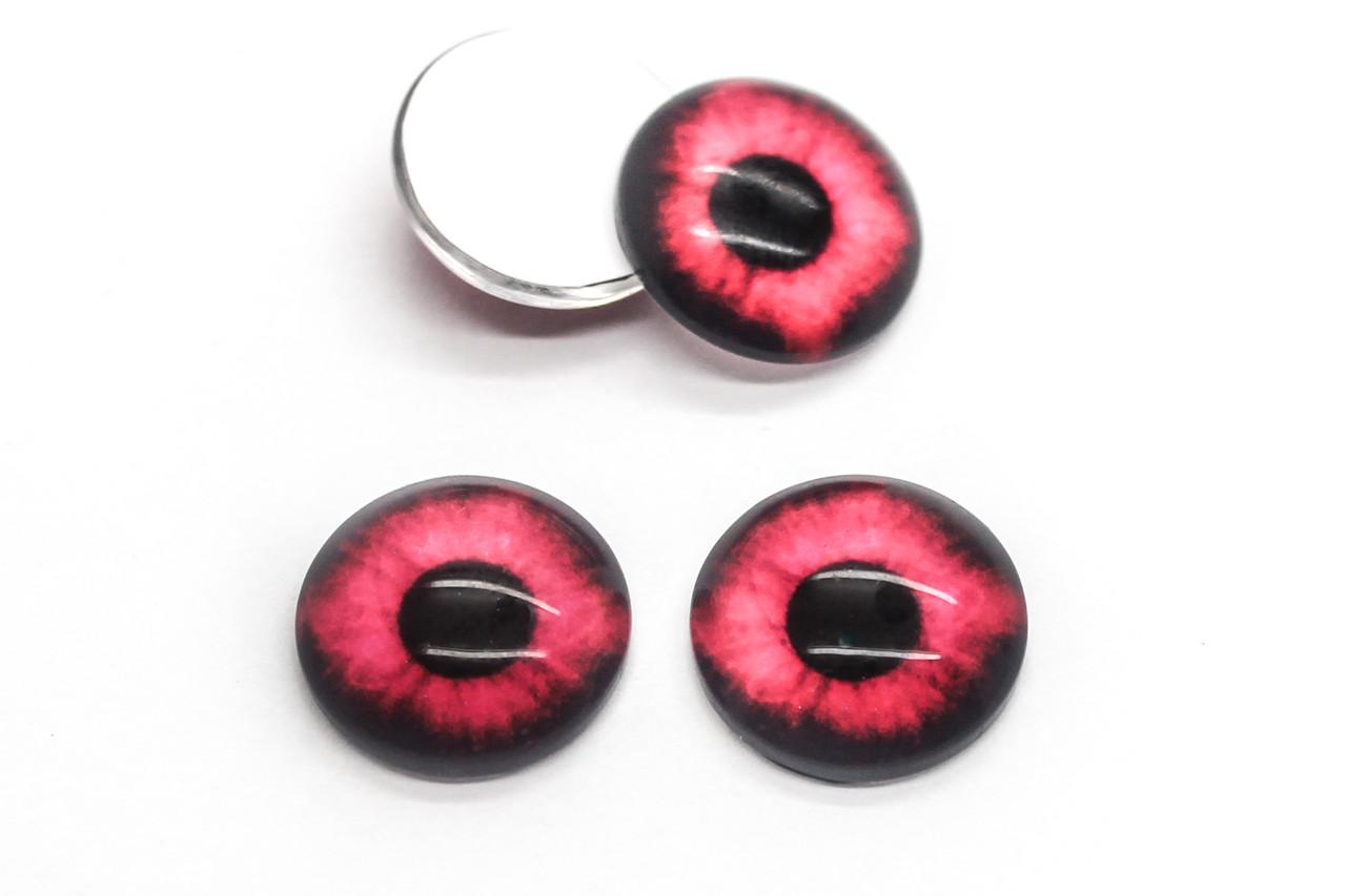 Глазки для игрушек, Диаметр:14 мм, Цвет Красный, в упаковке 20 шт