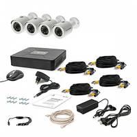 Комплект проводного видеонаблюдения Tecsar 4OUT