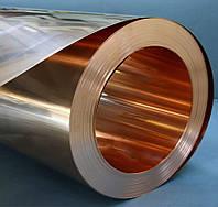 Лист лента бронзовая в диапазоне от 0,1 до 20 мм по марок МНМц, БРОЦ, БРКМЦ, БРБ-2, МНЖКТ