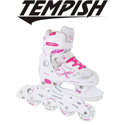 Детские раздвижные роликовые/ледовые коньки Tempish NEO-X LADY DUO 2в1, фото 2