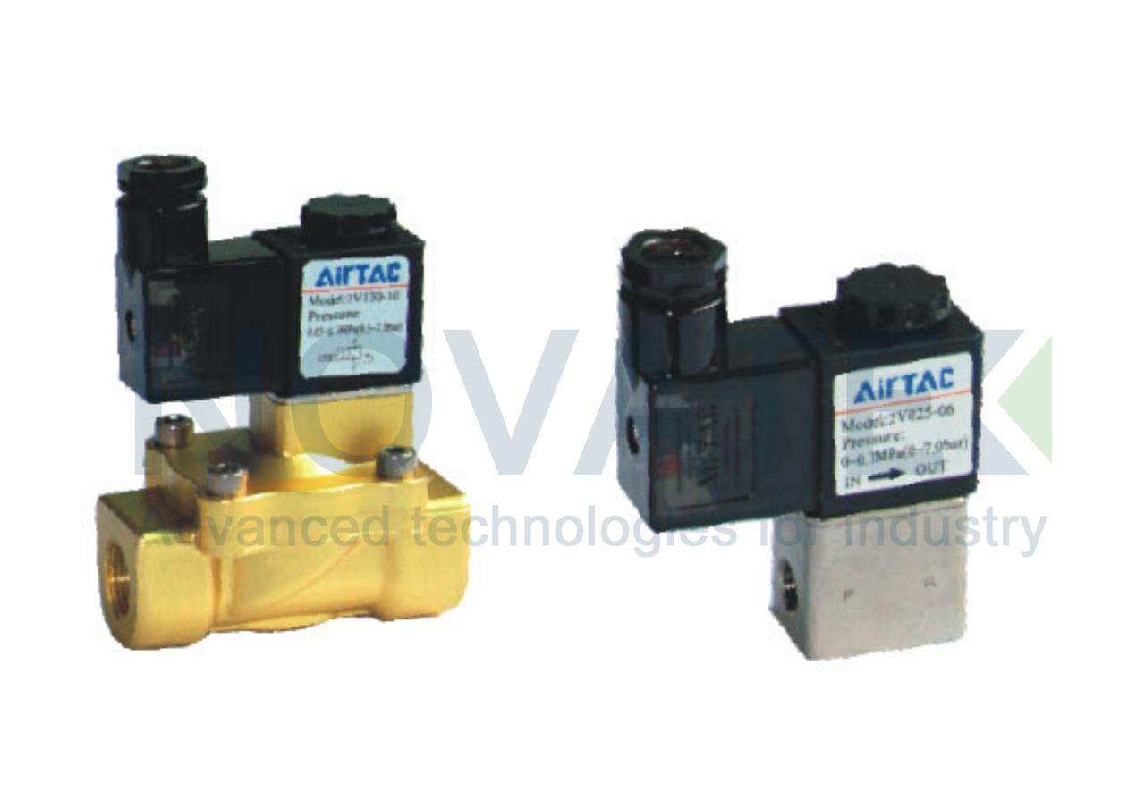 Соленоидный клапан 2/2 2V25020 24V DC AirTAC