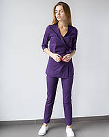Медичний жіночий костюм Шанхай фіолетовий, фото 1