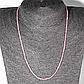 Бусы шнурок из розового кварца, Ø2,0 мм., 41 см., 202ОР, фото 2