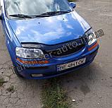Мухобойка, дефлектор капота Chevrolet Aveo 1-2 і HB. 2002-2005 (VIP), фото 4
