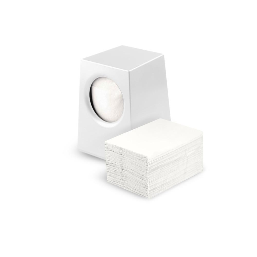 Настольный Диспенсер для бумажных барных салфеток белый Selpak для кафе и ресторана