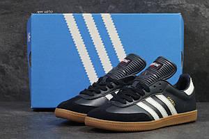 Кроссовки Adidas Samba,темно синие с белым