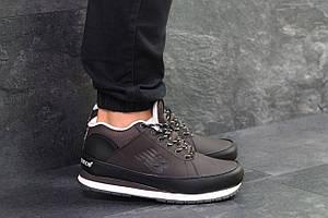 Мужские зимние кроссовки New Balance 754,темно коричневые