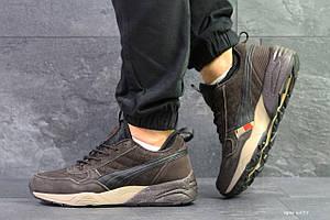 Мужские зимние кроссовки Ronnie fieg x Puma,коричневые,на меху