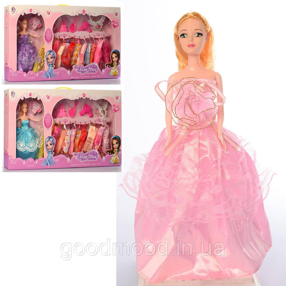Лялька з вбранням 594 сумочка, аксесуари, сукні 11 шт., мікс видів, кор., 68-36-8,5 см.