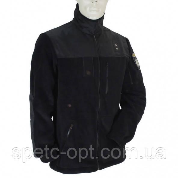 Кофта флисовая Полиция. Толстовка флисовая черная POLICE.
