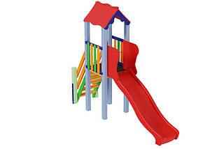 Детский комплекс Мини с пластиковой горкой Kidigo