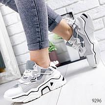 Светлые женские кроссовки комбинация 12\9296, фото 3