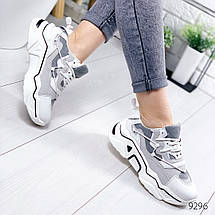 Светлые женские кроссовки комбинация 12\9296, фото 2