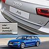 Пластиковая защитная накладка на задний бампер для Audi A6 Avant 2014-2016
