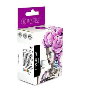 Совместимый картридж Inkdigo™ HP 301 XL Color (CH564EE), чернильный, цветной, 21 ml, аналог CH562EE (CH562E)