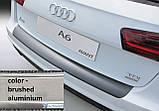 Пластиковая защитная накладка на задний бампер для Audi A6 Avant рестайл 09.2014-08.2018, фото 2