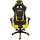 Кресло офисное компьютерное игровое Bonro 2018 геймерское Желтый, фото 5