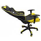 Кресло офисное компьютерное игровое Bonro 2018 геймерское Желтый, фото 6
