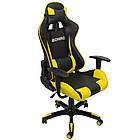 Кресло офисное компьютерное игровое Bonro 2018 геймерское Желтый, фото 3