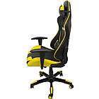 Кресло офисное компьютерное игровое Bonro 2018 геймерское Желтый, фото 9