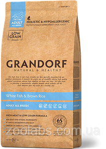 Корм Grandorf для собак с рыбой | Grandorf White Fish & Rice Adult All Breeds 3 кг