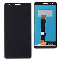 Дисплей для Nokia 3.1 Plus Dual Sim TA-1104 + тачскрин, черный