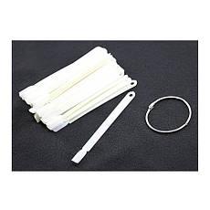 Палитра ноготков для гель-лака на кольце, белые (50 шт)