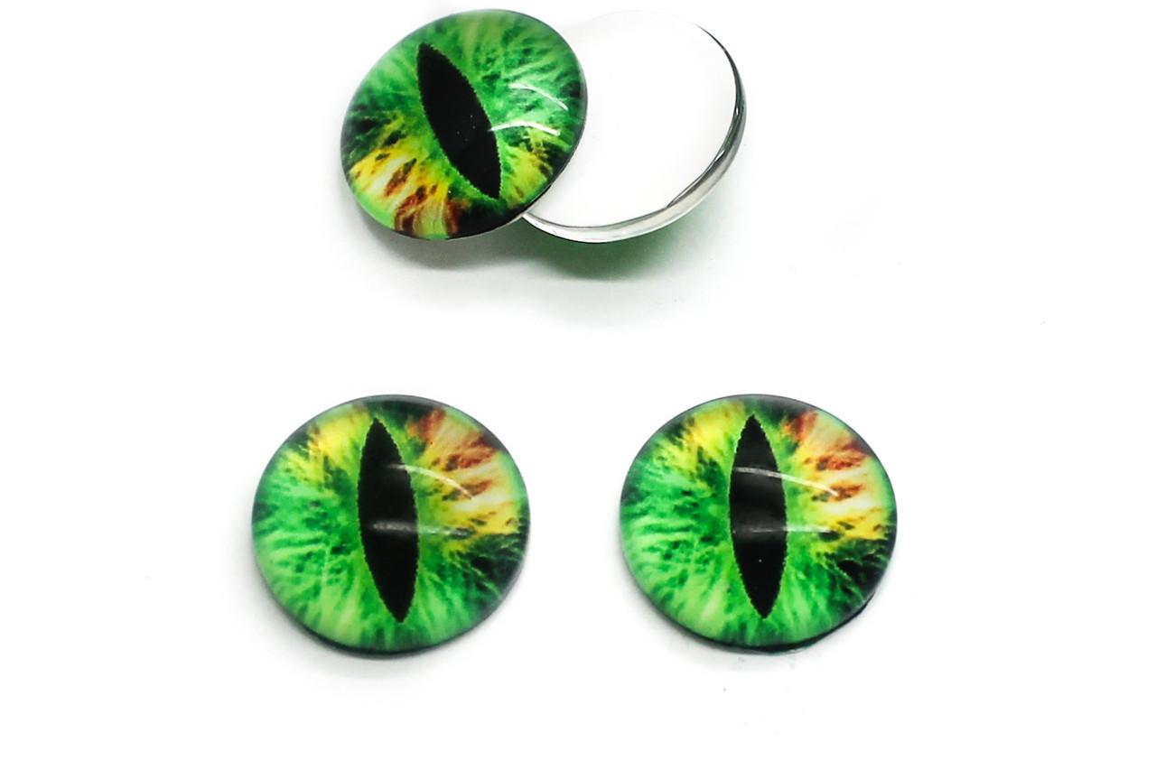 Глазки для игрушек, Диаметр:16 мм, Цвет Зеленый, в упаковке 20 шт