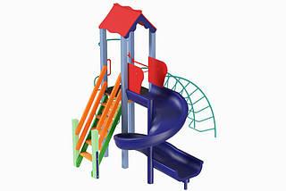 Детский комплекс Петушок с пластиковой горкой Спираль Kidigo
