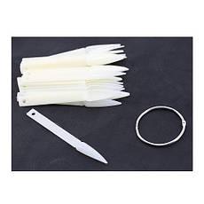 Палитра-веер стилеты для гель-лака на кольце, матовые (40 шт)