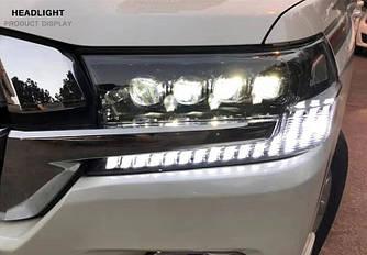 Передние фары Toyota Land Cruiser 200 (2016+) тюнинг Full Led оптика