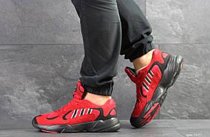 Мужские модные кроссовки Adidas Yung,замшевые,красные