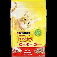 Friskies сухой корм для кошек, с говядиной, курицей и печенью 10КГ