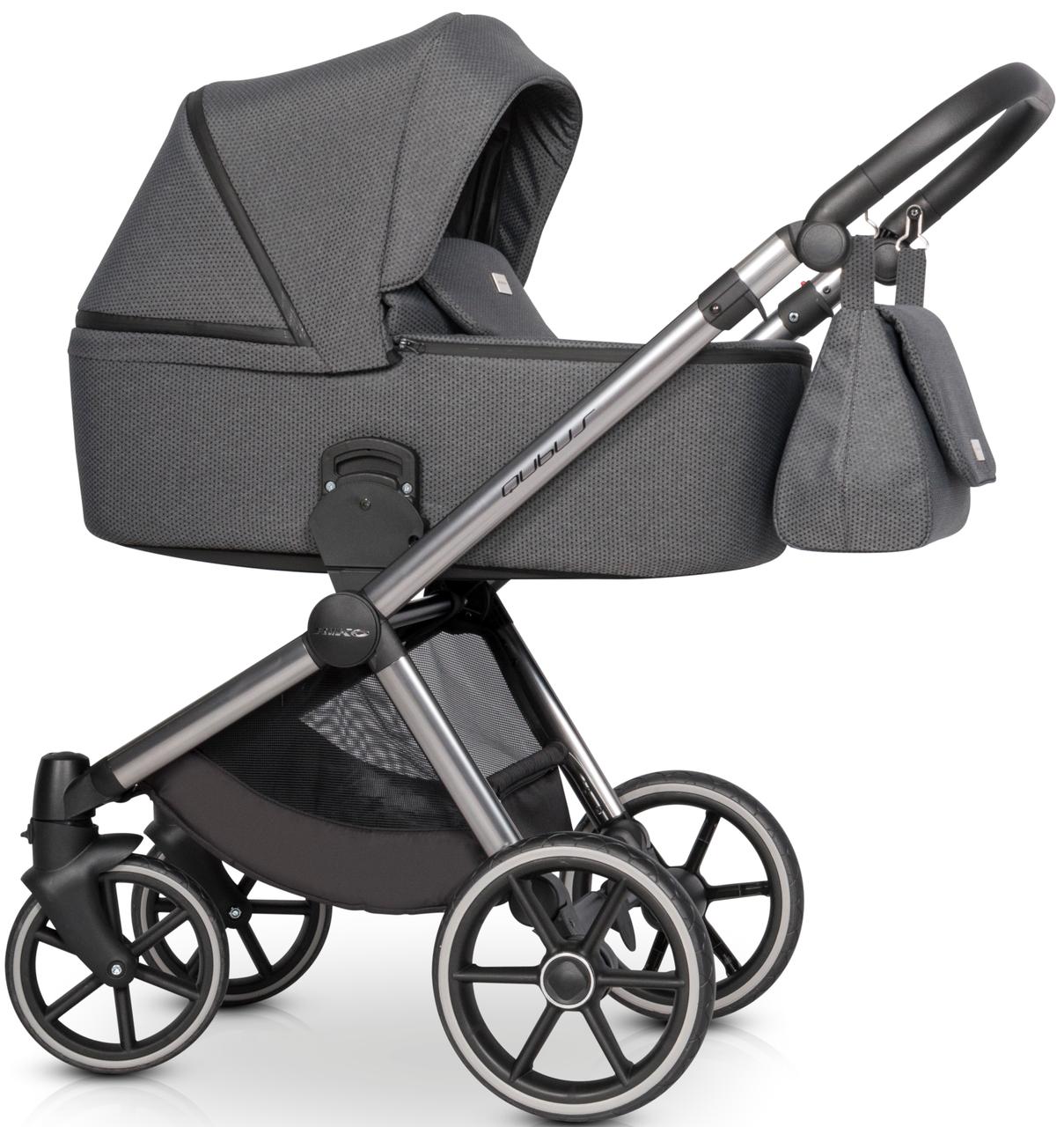 Детская универсальная коляска 3 в 1 Riko Qubus 02 Titanium