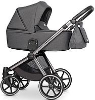 Детская универсальная коляска 3 в 1 Riko Qubus 02 Titanium, фото 1